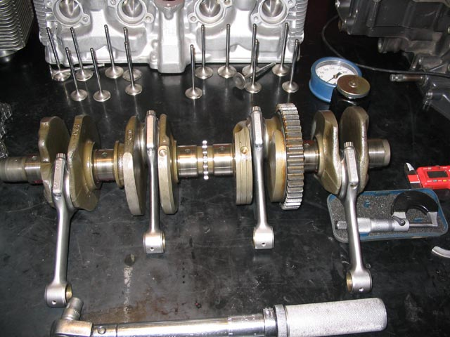 image showing Crankshaft Ready for Critical Measurement