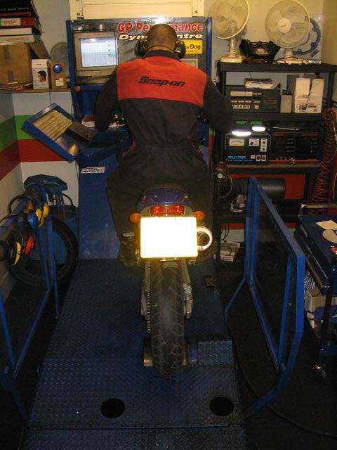 image showing Supermoto Gets Analysed on the Rolling Road Dyno